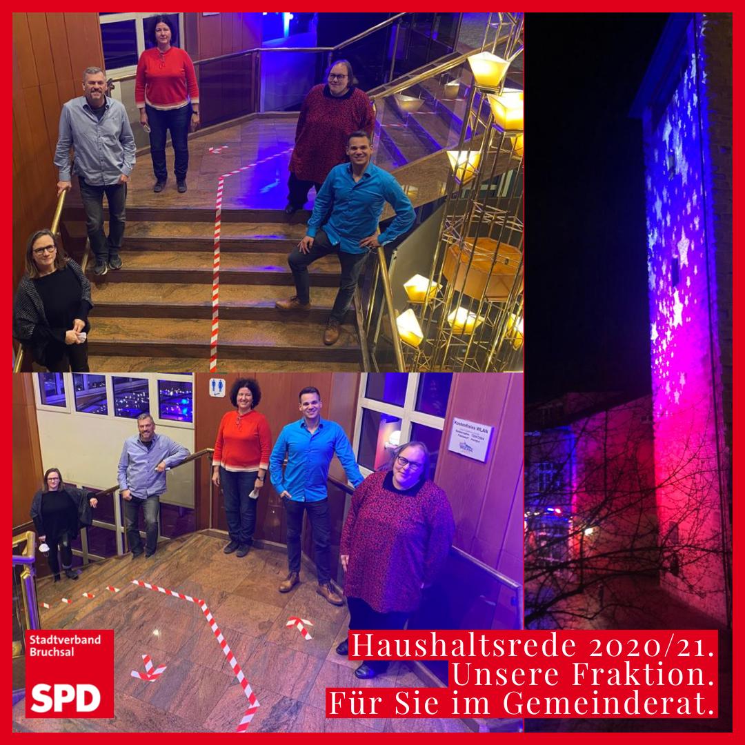 Die Bruchsaler SPD-Gemeinderatsfraktion, links oben (v.l.n.r.): Alexandra Nohl, Gerhard Schlegel, Martina Füg, Anja Krug und Fabian Verch